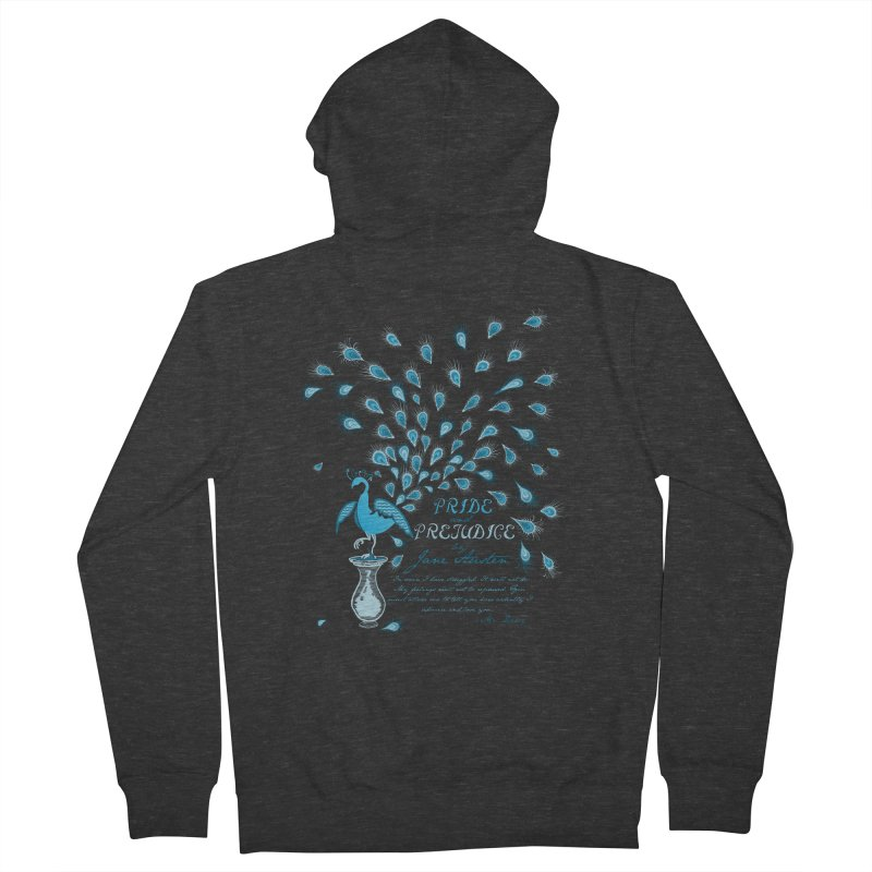 Paisley Peacock Pride and Prejudice Men's Zip-Up Hoody by doodleheaddee's Artist Shop