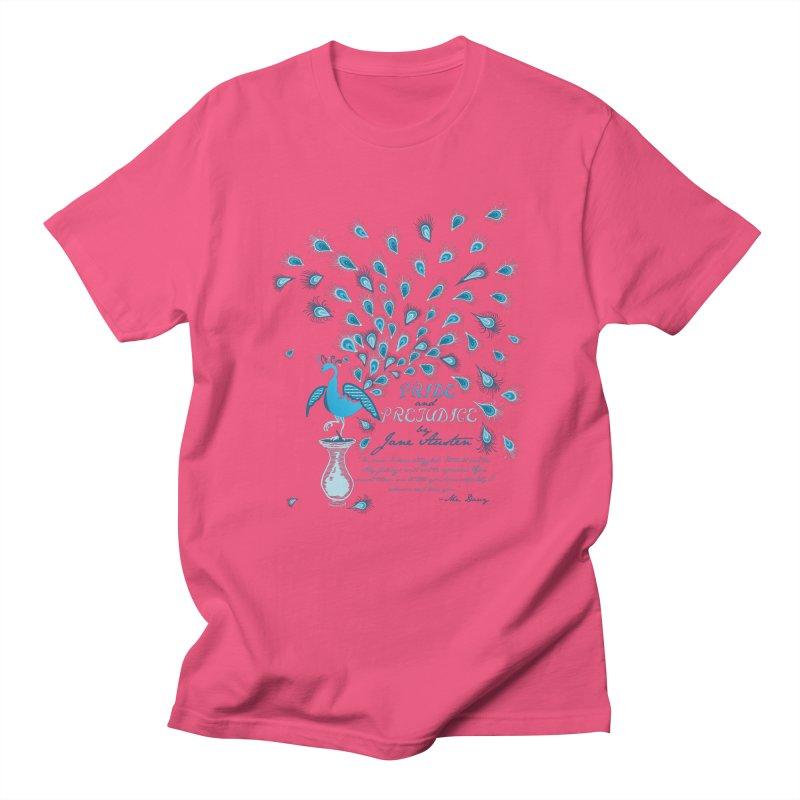 Paisley Peacock Pride and Prejudice Men's T-Shirt by doodleheaddee's Artist Shop