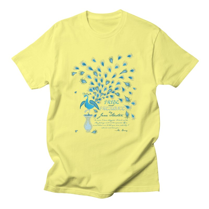 Paisley Peacock Pride and Prejudice Men's Regular T-Shirt by doodleheaddee's Artist Shop