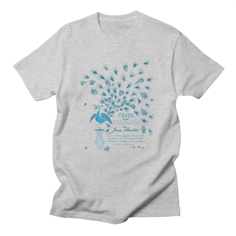 Paisley Peacock Pride and Prejudice Men's T-shirt by doodleheaddee's Artist Shop