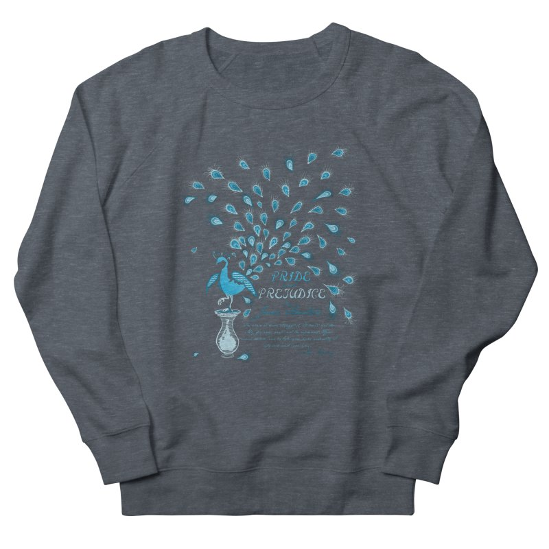 Paisley Peacock Pride and Prejudice Women's French Terry Sweatshirt by doodleheaddee's Artist Shop