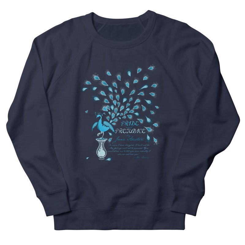Paisley Peacock Pride and Prejudice Women's Sweatshirt by doodleheaddee's Artist Shop