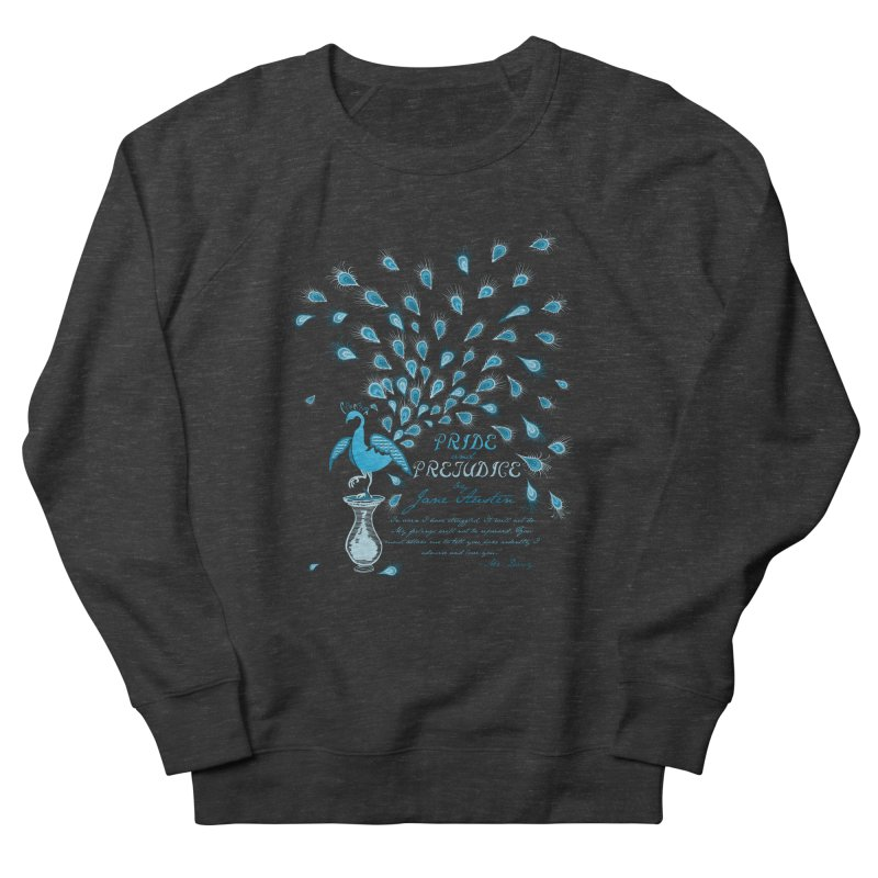 Paisley Peacock Pride and Prejudice Men's Sweatshirt by doodleheaddee's Artist Shop