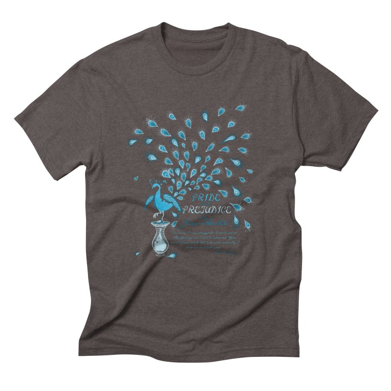 Paisley Peacock Pride and Prejudice Men's Triblend T-Shirt by doodleheaddee's Artist Shop
