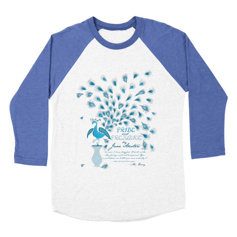 Paisley Peacock Pride and Prejudice Women's Baseball Triblend T-Shirt by doodleheaddee's Artist Shop
