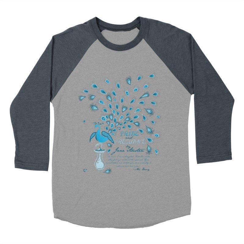 Paisley Peacock Pride and Prejudice Women's Baseball Triblend T-Shirt by doodleheaddee's Artist Shop