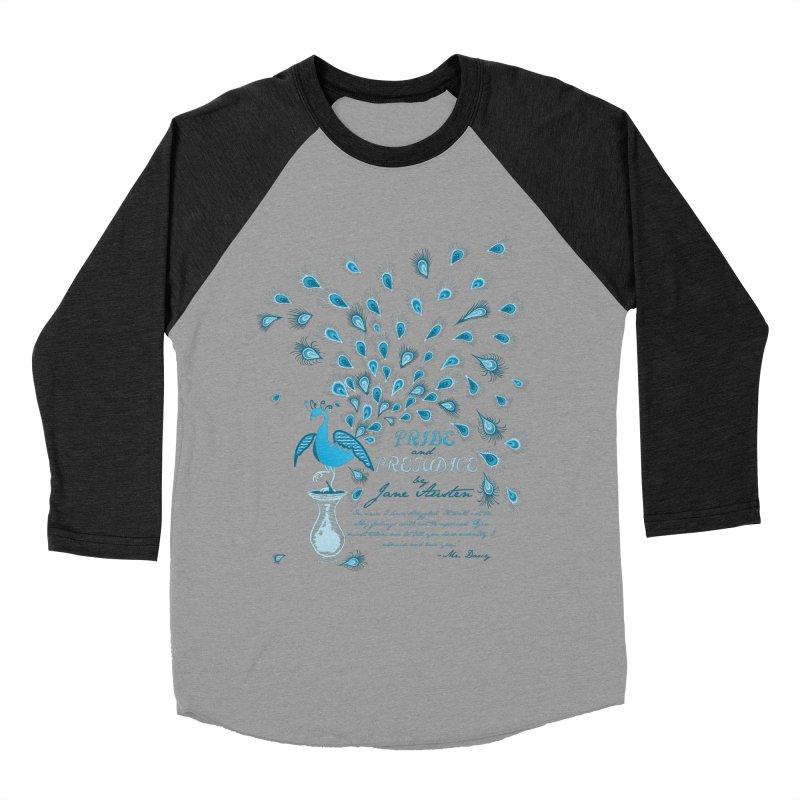 Paisley Peacock Pride and Prejudice Men's Baseball Triblend T-Shirt by doodleheaddee's Artist Shop
