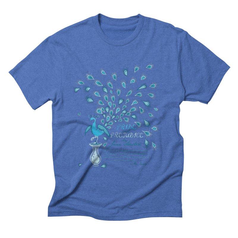 Paisley Peacock Pride and Prejudice Men's Triblend T-shirt by doodleheaddee's Artist Shop