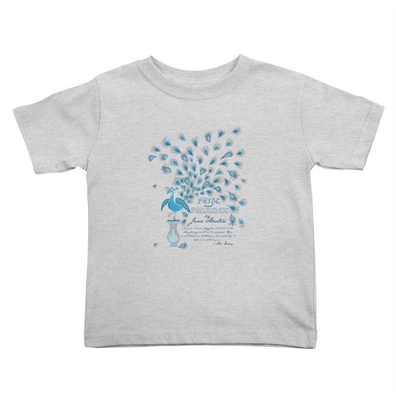 Paisley Peacock Pride and Prejudice Kids Toddler T-Shirt by doodleheaddee's Artist Shop