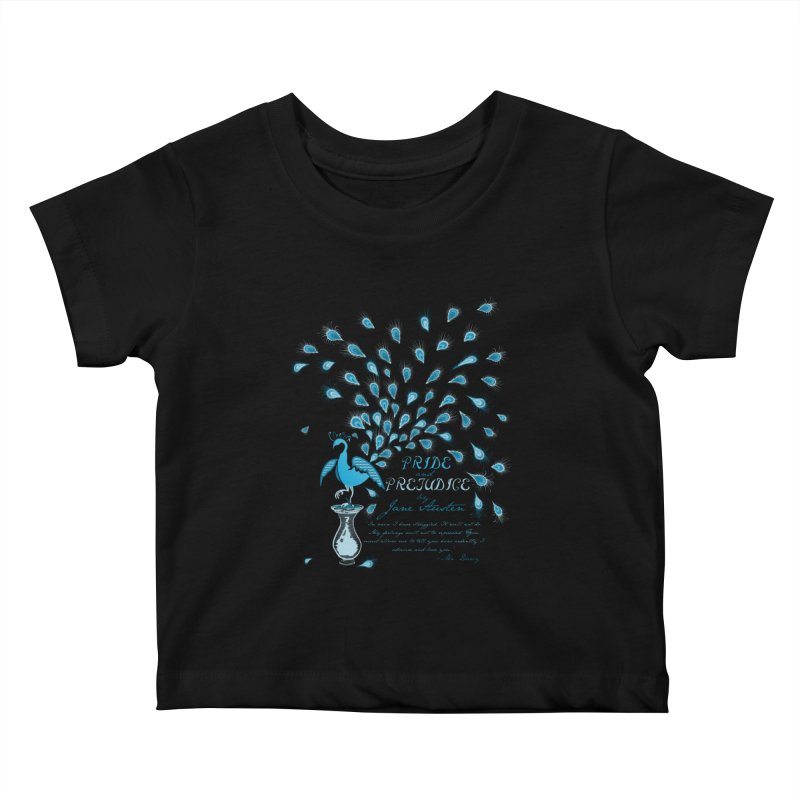 Paisley Peacock Pride and Prejudice Kids Baby T-Shirt by doodleheaddee's Artist Shop
