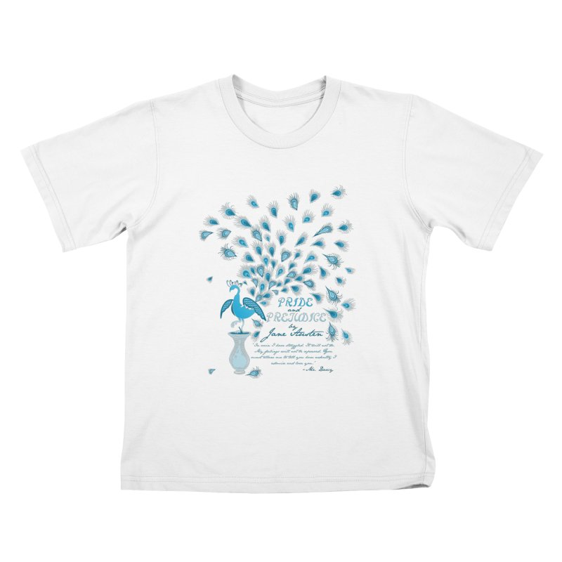 Paisley Peacock Pride and Prejudice Kids T-Shirt by doodleheaddee's Artist Shop