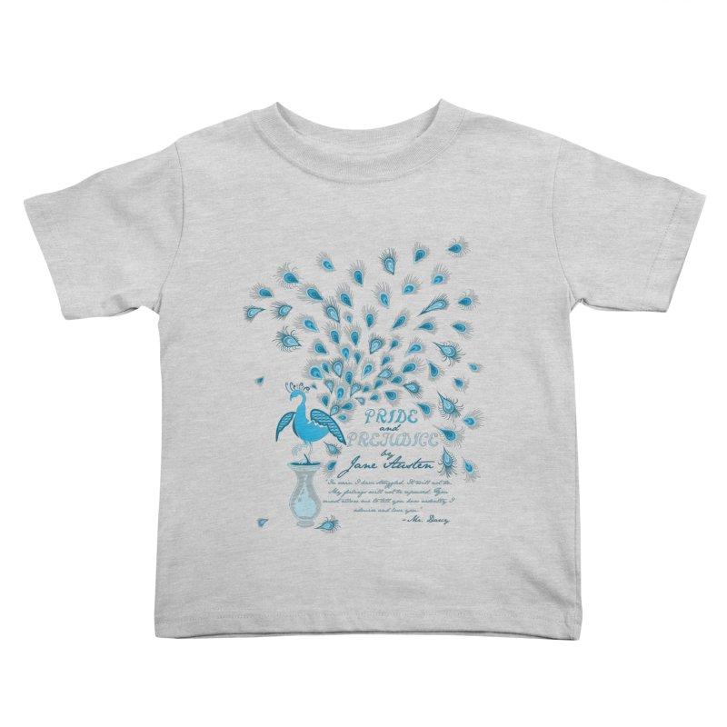 Paisley Peacock Pride and Prejudice Kids Toddler T-Shirt by doodleheaddee's Artist Shop