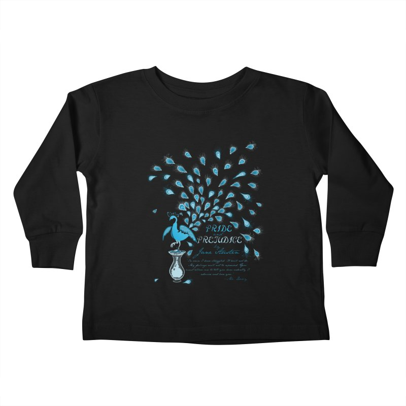 Paisley Peacock Pride and Prejudice Kids Toddler Longsleeve T-Shirt by doodleheaddee's Artist Shop