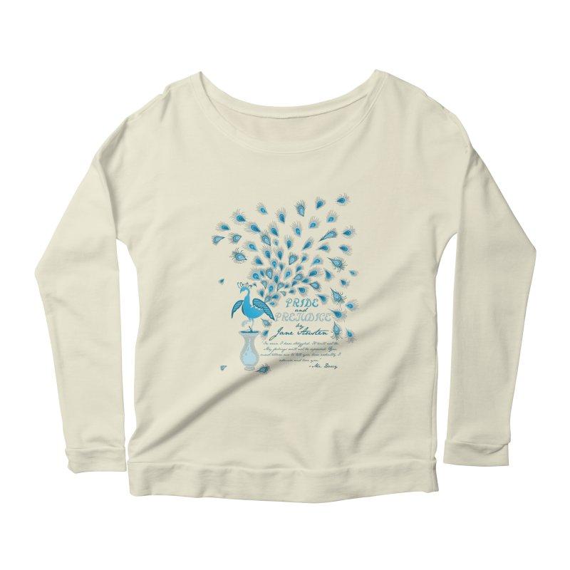 Paisley Peacock Pride and Prejudice Women's Scoop Neck Longsleeve T-Shirt by doodleheaddee's Artist Shop
