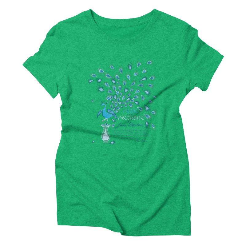 Paisley Peacock Pride and Prejudice Women's Triblend T-shirt by doodleheaddee's Artist Shop