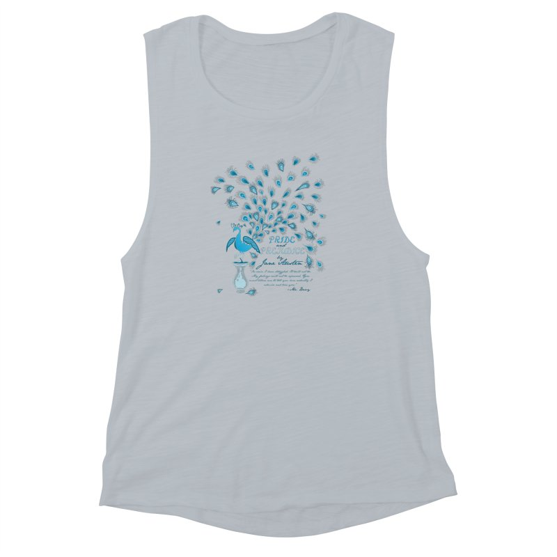 Paisley Peacock Pride and Prejudice Women's Muscle Tank by doodleheaddee's Artist Shop