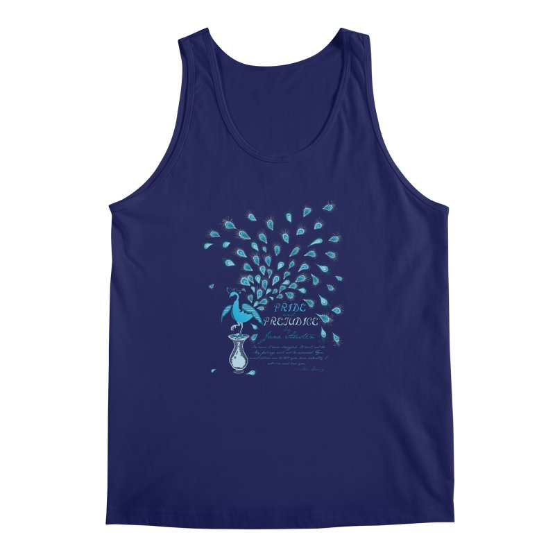 Paisley Peacock Pride and Prejudice Men's Tank by doodleheaddee's Artist Shop