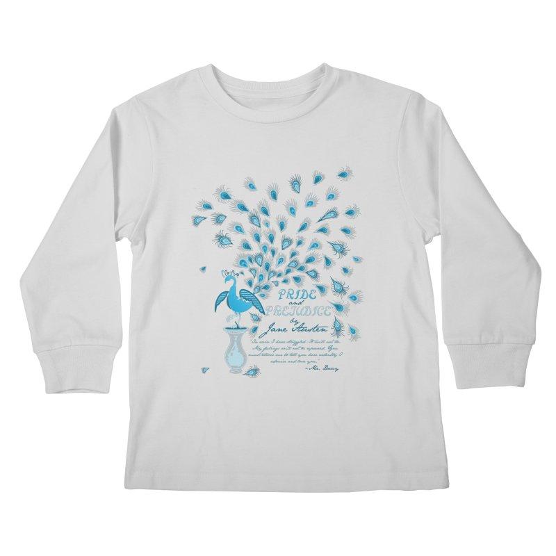 Paisley Peacock Pride and Prejudice Kids Longsleeve T-Shirt by doodleheaddee's Artist Shop