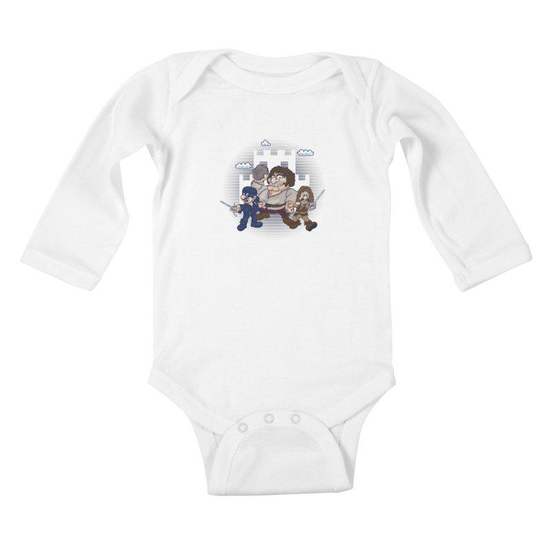 Have Fun Stormin' the Castle Kids Baby Longsleeve Bodysuit by doodleheaddee's Artist Shop