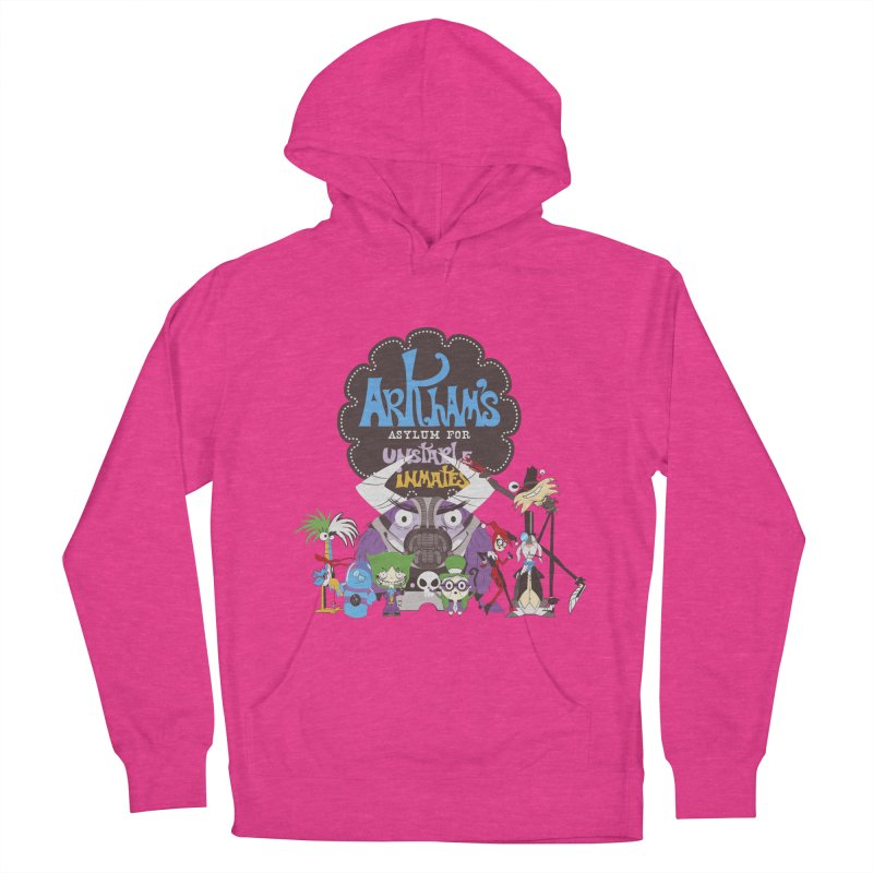 ARKHAM'S ASYLUM FOR UNSTABLE INMATES Women's French Terry Pullover Hoody by doodleheaddee's Artist Shop