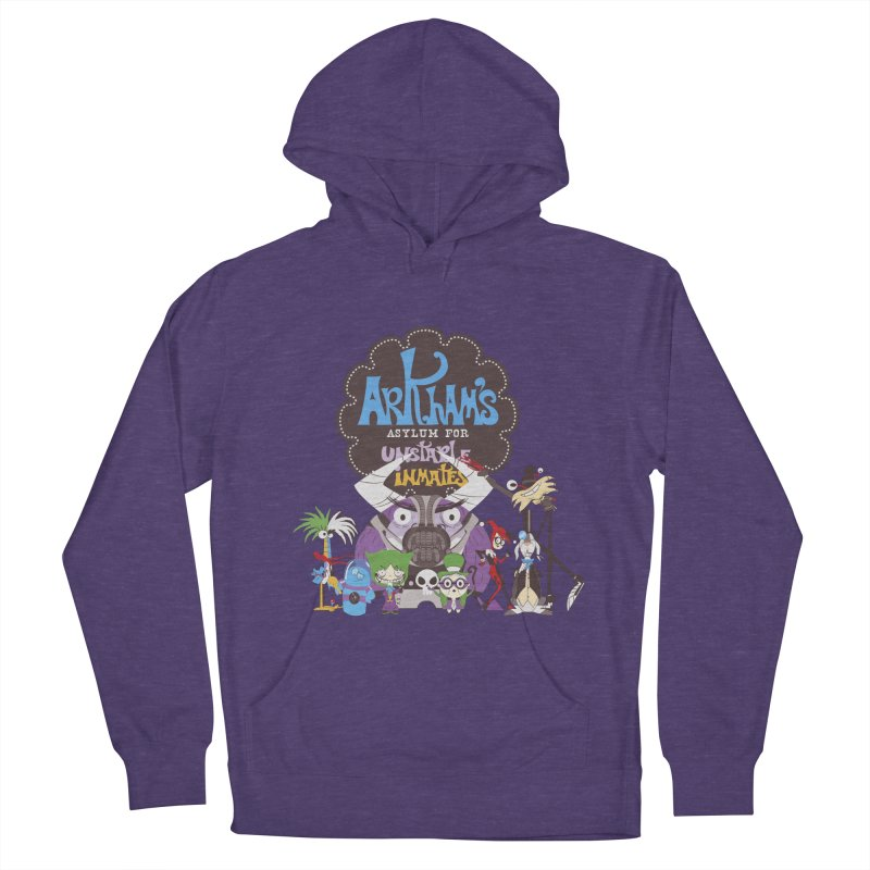 ARKHAM'S ASYLUM FOR UNSTABLE INMATES Men's French Terry Pullover Hoody by doodleheaddee's Artist Shop