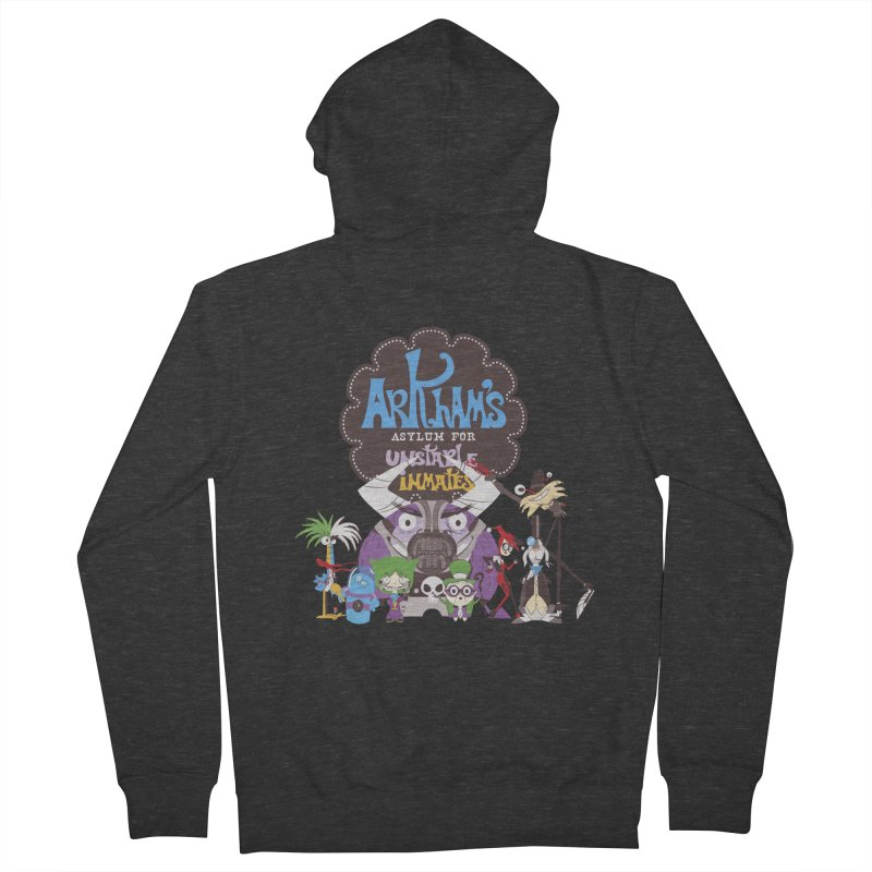 ARKHAM'S ASYLUM FOR UNSTABLE INMATES Women's French Terry Zip-Up Hoody by doodleheaddee's Artist Shop