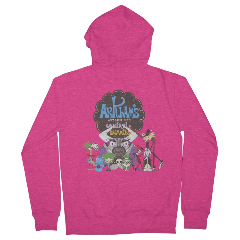 ARKHAM'S ASYLUM FOR UNSTABLE INMATES Women's Zip-Up Hoody by doodleheaddee's Artist Shop