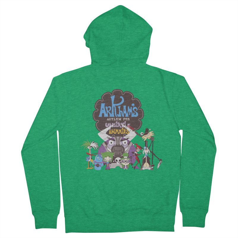 ARKHAM'S ASYLUM FOR UNSTABLE INMATES Men's Zip-Up Hoody by doodleheaddee's Artist Shop