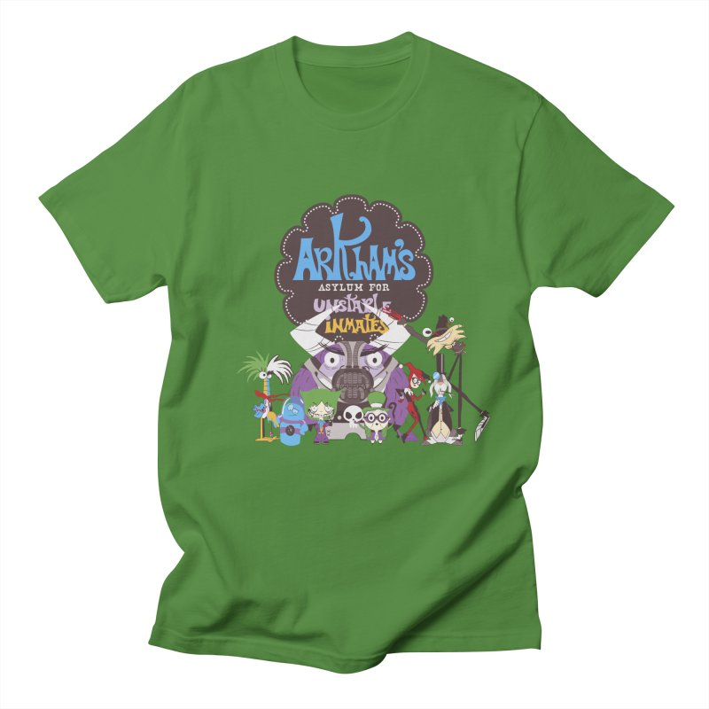 ARKHAM'S ASYLUM FOR UNSTABLE INMATES Men's Regular T-Shirt by doodleheaddee's Artist Shop
