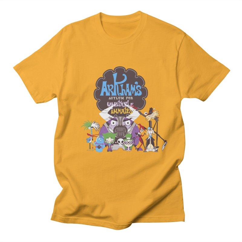 ARKHAM'S ASYLUM FOR UNSTABLE INMATES Men's T-Shirt by doodleheaddee's Artist Shop
