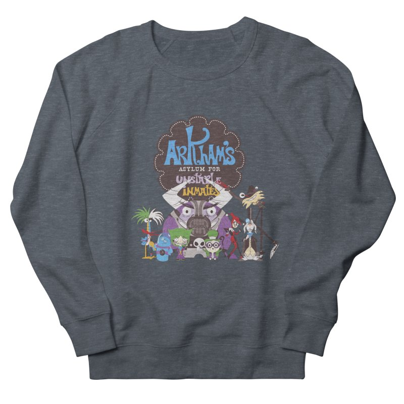 ARKHAM'S ASYLUM FOR UNSTABLE INMATES Women's French Terry Sweatshirt by doodleheaddee's Artist Shop