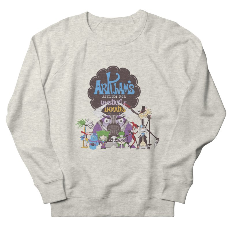 ARKHAM'S ASYLUM FOR UNSTABLE INMATES Men's French Terry Sweatshirt by doodleheaddee's Artist Shop
