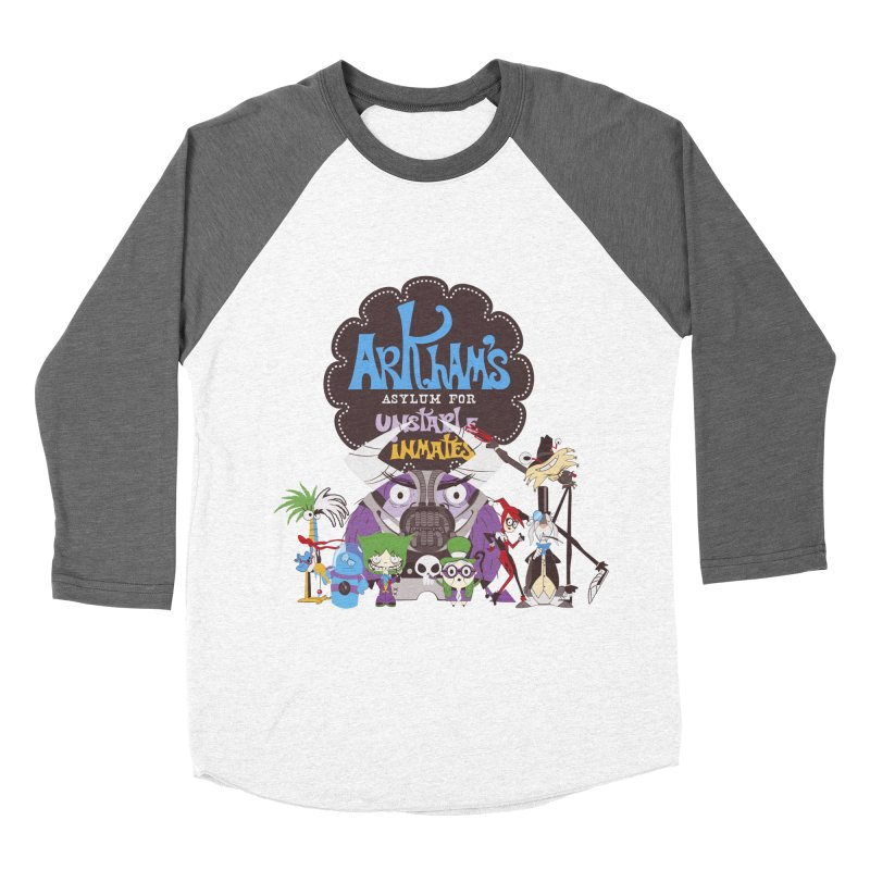 ARKHAM'S ASYLUM FOR UNSTABLE INMATES Women's Baseball Triblend T-Shirt by doodleheaddee's Artist Shop