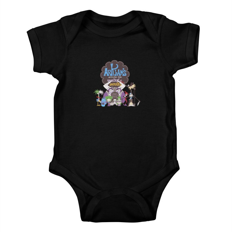 ARKHAM'S ASYLUM FOR UNSTABLE INMATES Kids Baby Bodysuit by doodleheaddee's Artist Shop