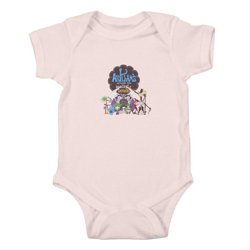 ARKHAM'S ASYLUM FOR UNSTABLE INMATES Kids Baby Bodysuit by doodleheaddee's Artist Shop