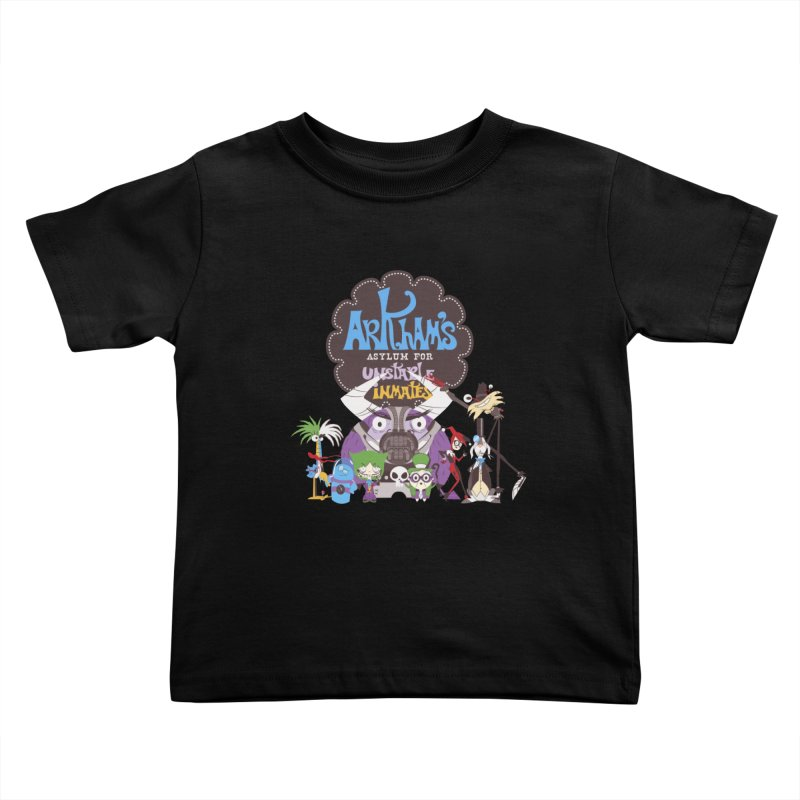 ARKHAM'S ASYLUM FOR UNSTABLE INMATES Kids Toddler T-Shirt by doodleheaddee's Artist Shop