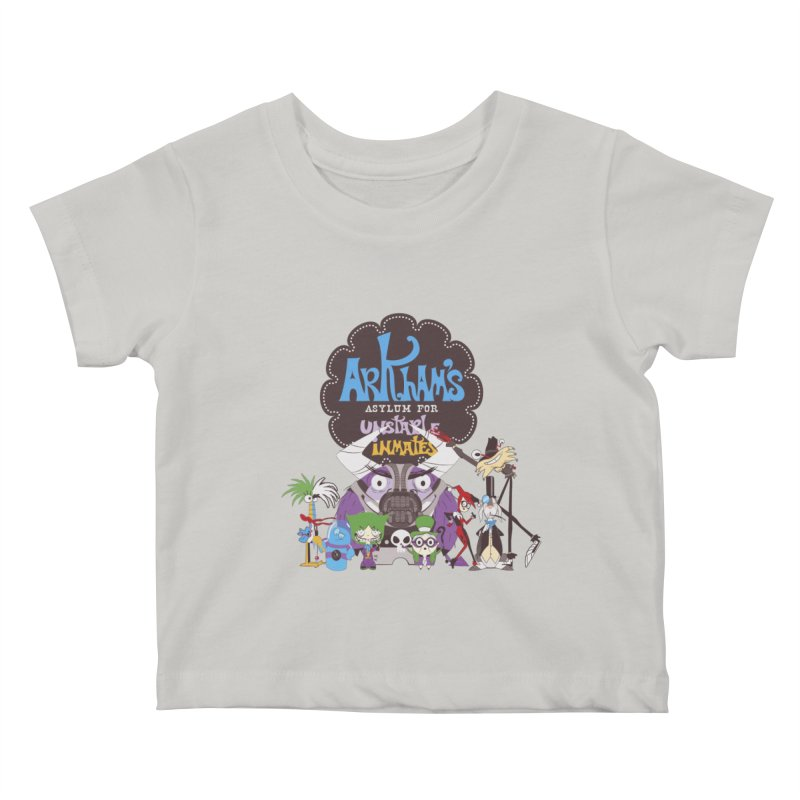 ARKHAM'S ASYLUM FOR UNSTABLE INMATES Kids Baby T-Shirt by doodleheaddee's Artist Shop