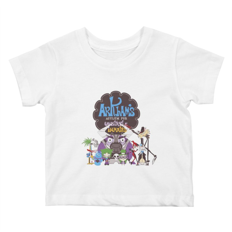 ARKHAM'S ASYLUM FOR UNSTABLE INMATES Kids Baby T-Shirt by doodleheaddee's Artist Shop