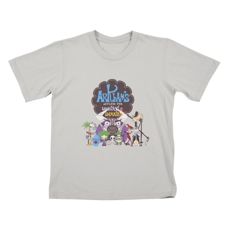 ARKHAM'S ASYLUM FOR UNSTABLE INMATES Kids T-Shirt by doodleheaddee's Artist Shop
