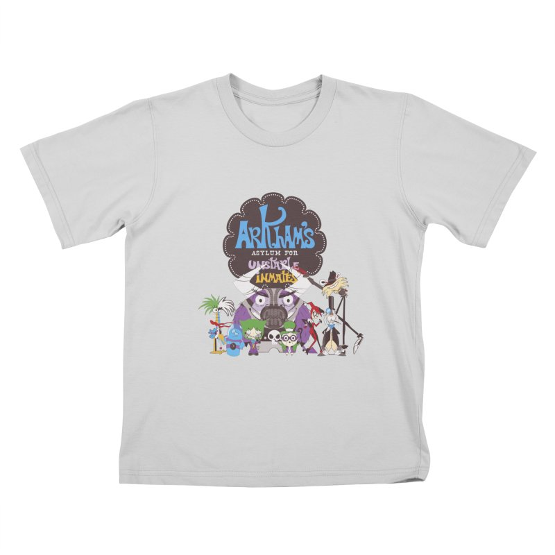 ARKHAM'S ASYLUM FOR UNSTABLE INMATES Kids T-Shirt by doodleheaddee's Artist Shop