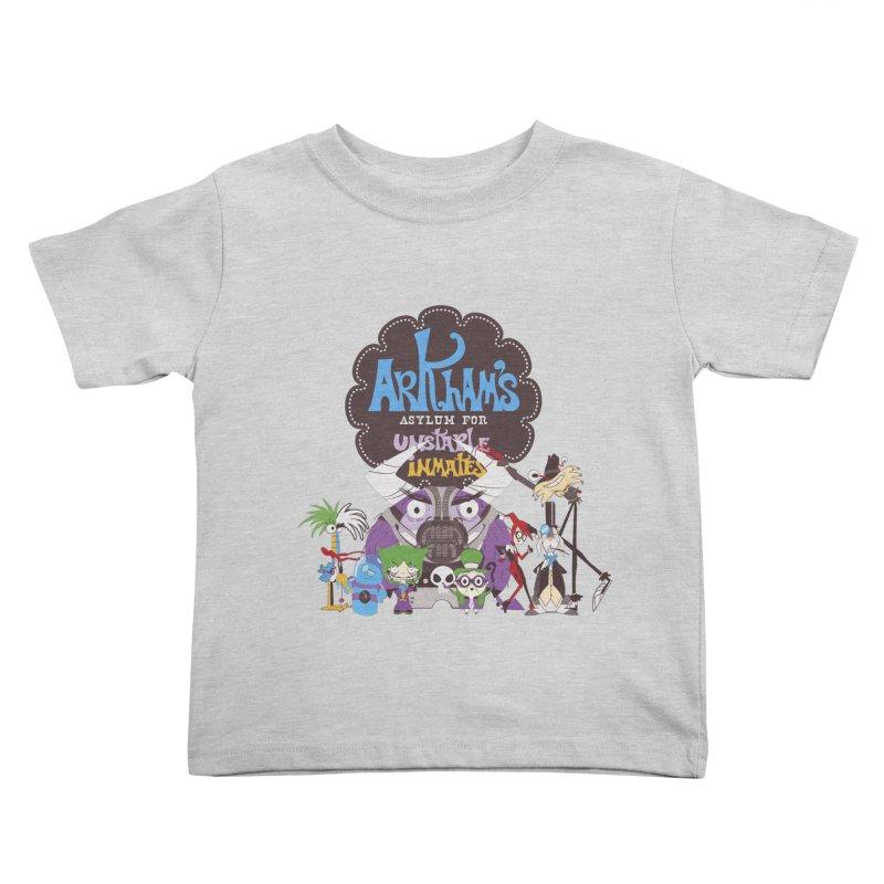 ARKHAM'S ASYLUM FOR UNSTABLE INMATES Kids Toddler T-Shirt by doodleheaddee's Artist Shop