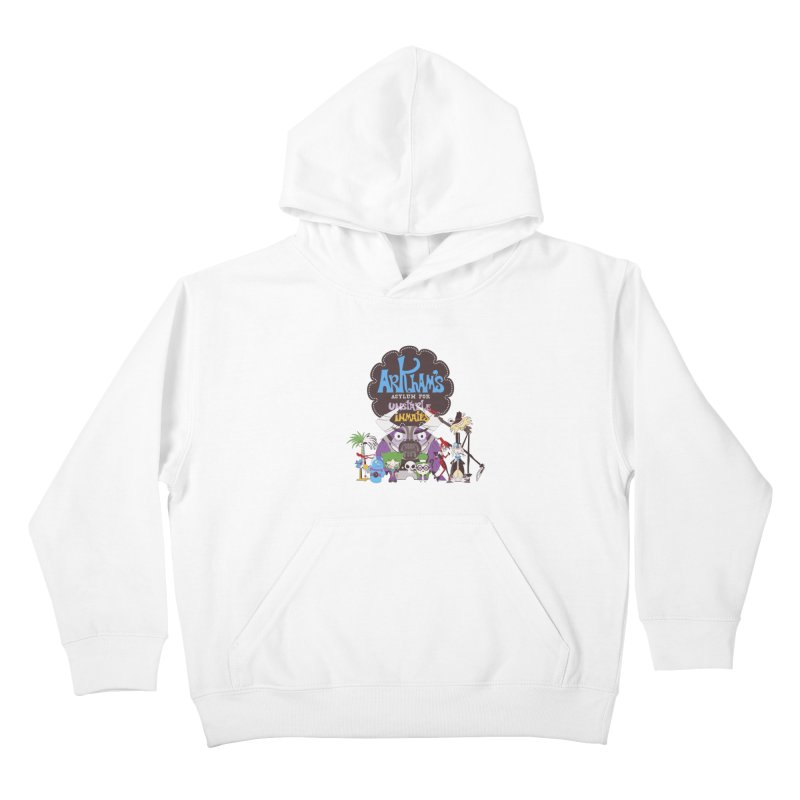 ARKHAM'S ASYLUM FOR UNSTABLE INMATES Kids Pullover Hoody by doodleheaddee's Artist Shop