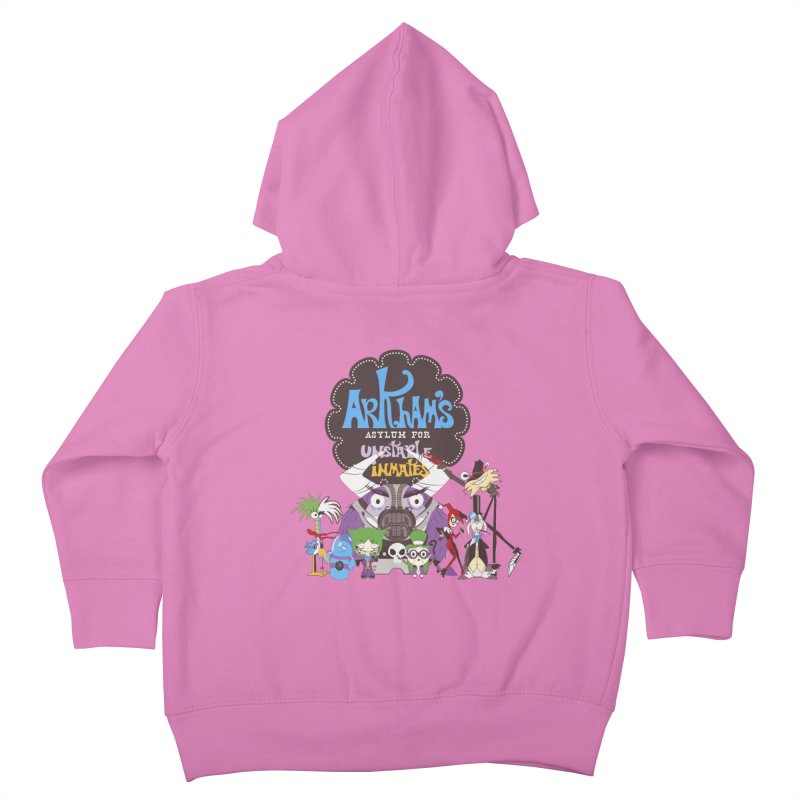 ARKHAM'S ASYLUM FOR UNSTABLE INMATES Kids Toddler Zip-Up Hoody by doodleheaddee's Artist Shop