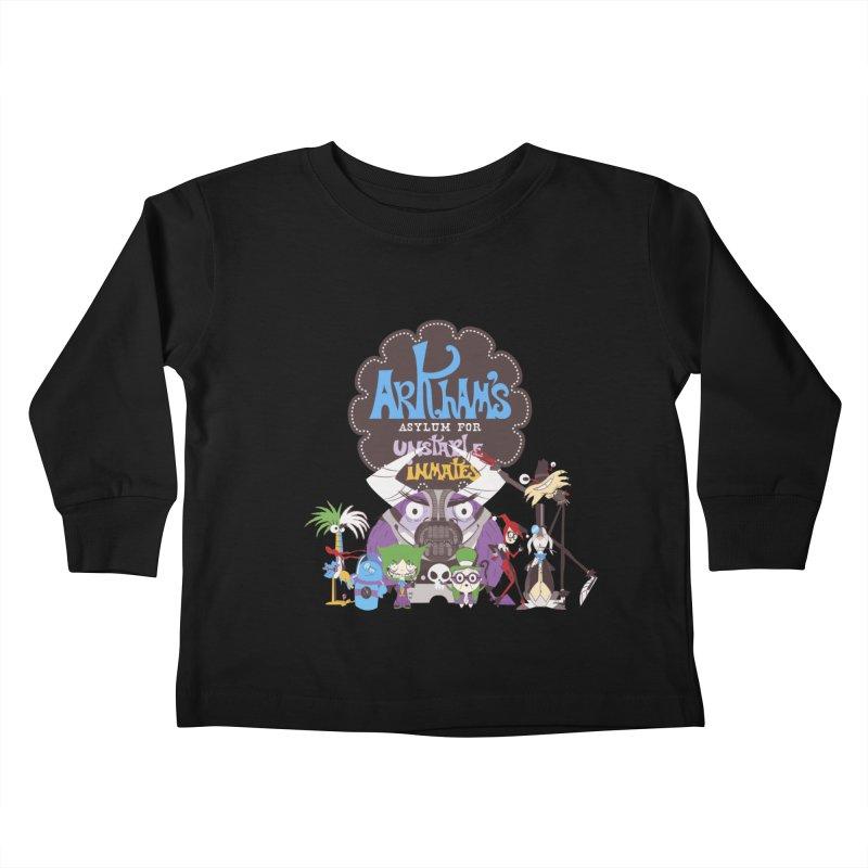 ARKHAM'S ASYLUM FOR UNSTABLE INMATES Kids Toddler Longsleeve T-Shirt by doodleheaddee's Artist Shop
