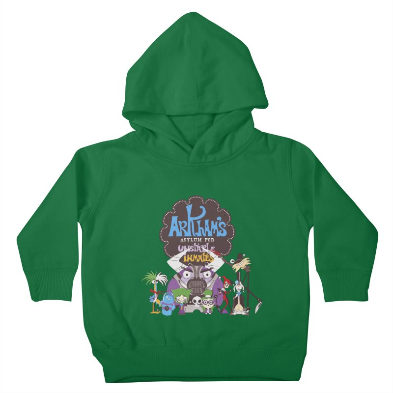 ARKHAM'S ASYLUM FOR UNSTABLE INMATES Kids Toddler Pullover Hoody by doodleheaddee's Artist Shop