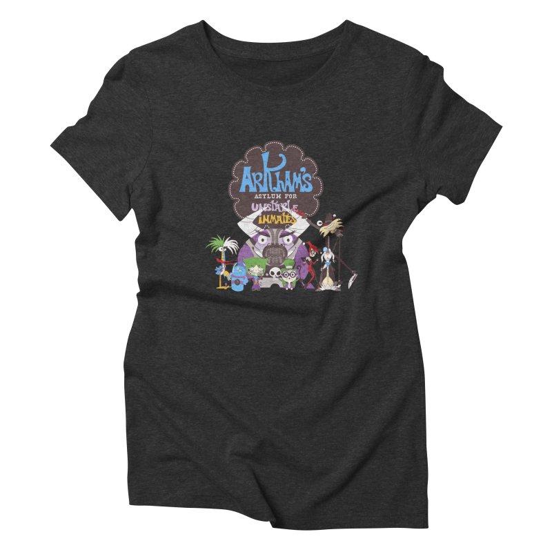 ARKHAM'S ASYLUM FOR UNSTABLE INMATES Women's Triblend T-Shirt by doodleheaddee's Artist Shop