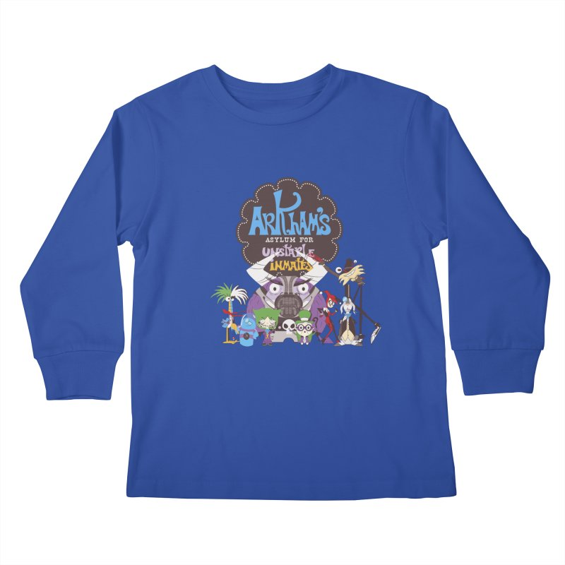 ARKHAM'S ASYLUM FOR UNSTABLE INMATES Kids Longsleeve T-Shirt by doodleheaddee's Artist Shop