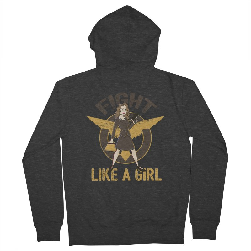 Fight Like A Girl Women's Zip-Up Hoody by doodleheaddee's Artist Shop