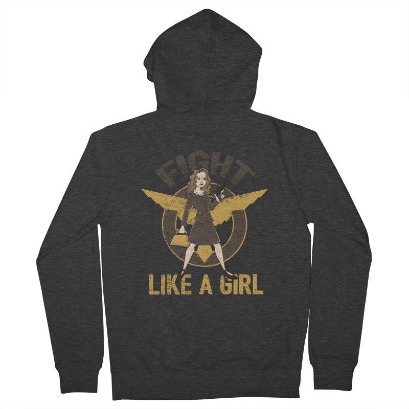 Fight Like A Girl Men's Zip-Up Hoody by doodleheaddee's Artist Shop
