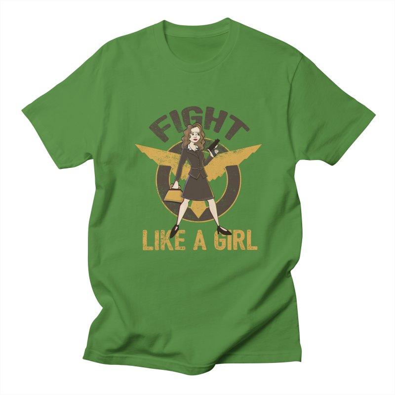 Fight Like A Girl Men's T-Shirt by doodleheaddee's Artist Shop
